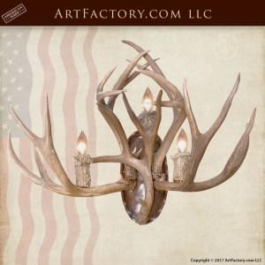 custom antler sconce
