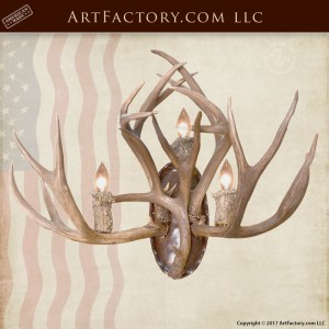 custom antler sconce
