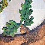 oak tree hand carved wood door