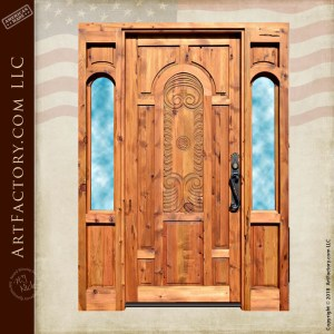 Baroque inspired hand carved door