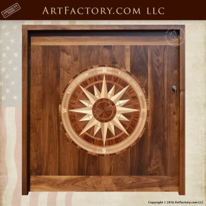 Nautical Compass Inlay Entrance Door