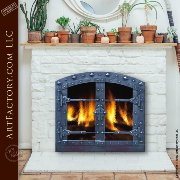 Custom Hand Forged Fireplace Doors Fine Art Quality Custom Designs