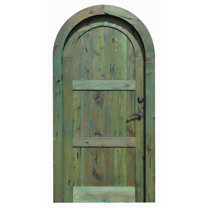 custom solid wood arched door