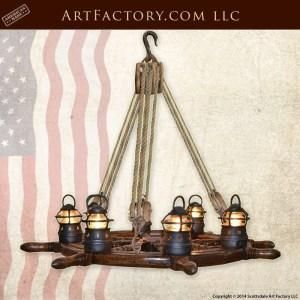 ship wheel chandelier