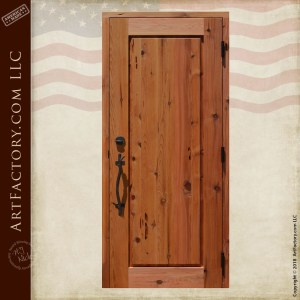 cabin carved front door