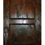 custom castle door with transom