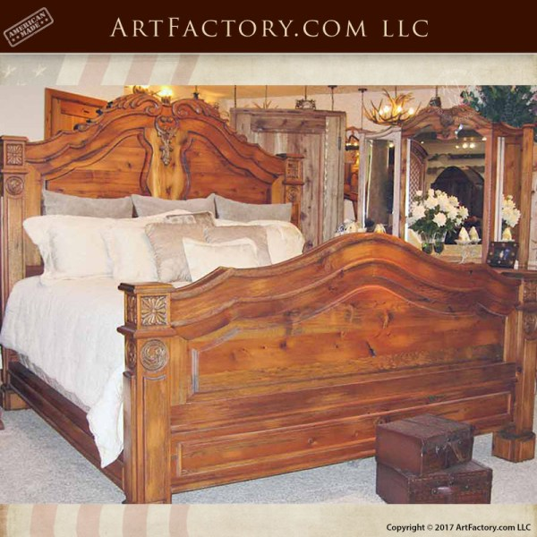 French Style Hand Carved King Bed: An H.J. Nick Fine Art Design