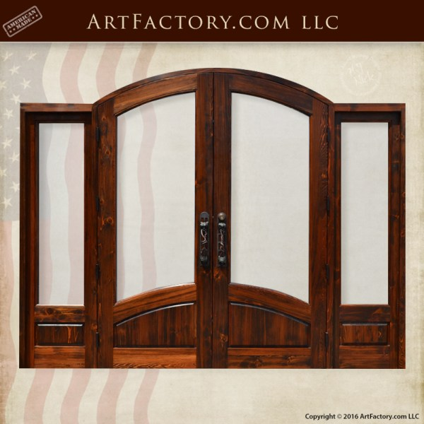 grand entrance double doors glass panels and sidelights