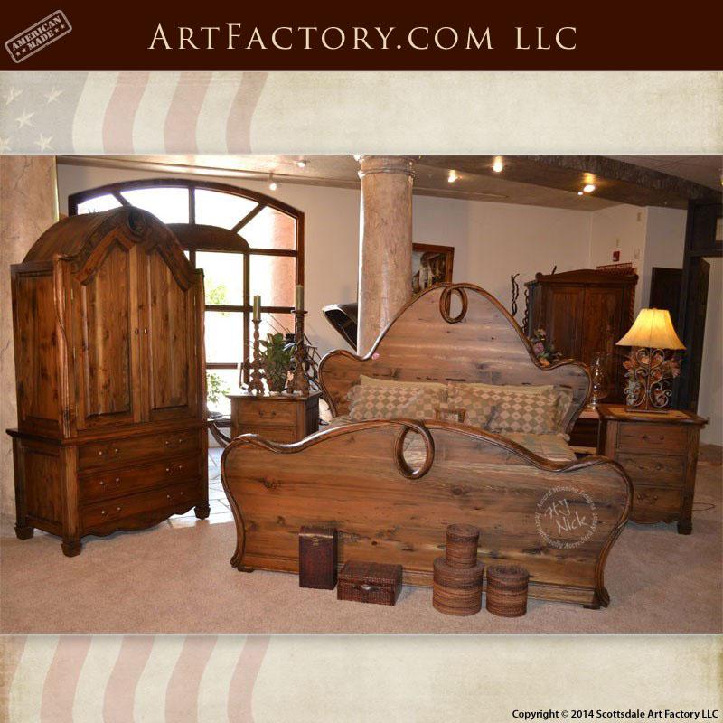 Art Nouveau style bedroom set with Art Nouveau stye armoire