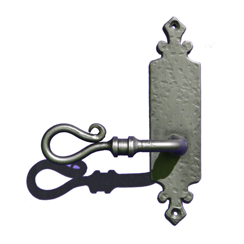 Lever Handle - Custom Iron Door Design