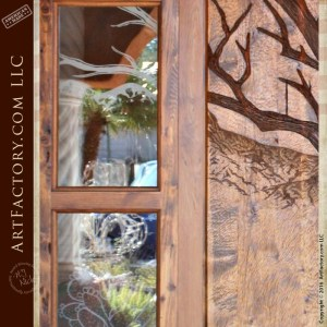 Tree Carved Entrance Door