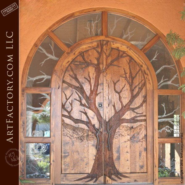 Tree Carved Entrance Door