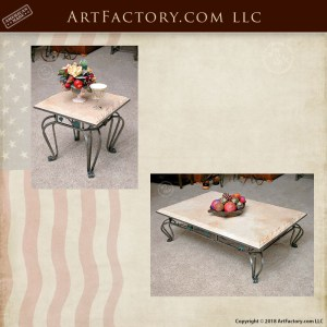 travertine table set
