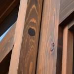 custom wood glass door