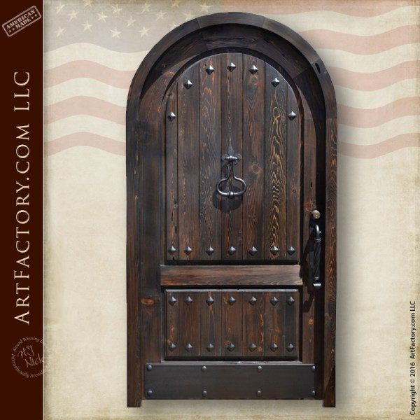 Arched Entrance Gothic Castle Door Solid Wood And