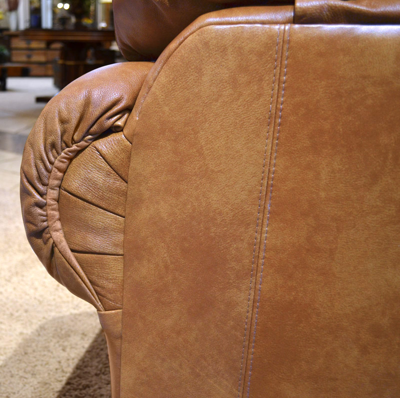 Roll Arm Custom Leather Sofa Custom Tack Luxury Couch
