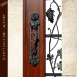 wine theme iron door grill