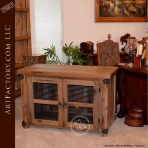 rustic custom office cabinet