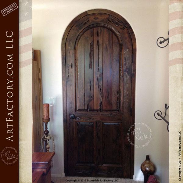 arched wooden door