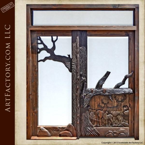 fine art custom lodge door