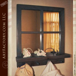 Handmade Windowpane Mirror