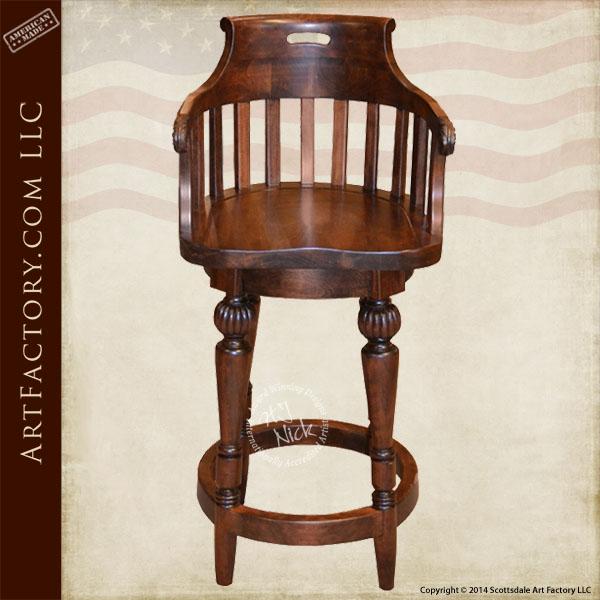 custom Windsor bar stool