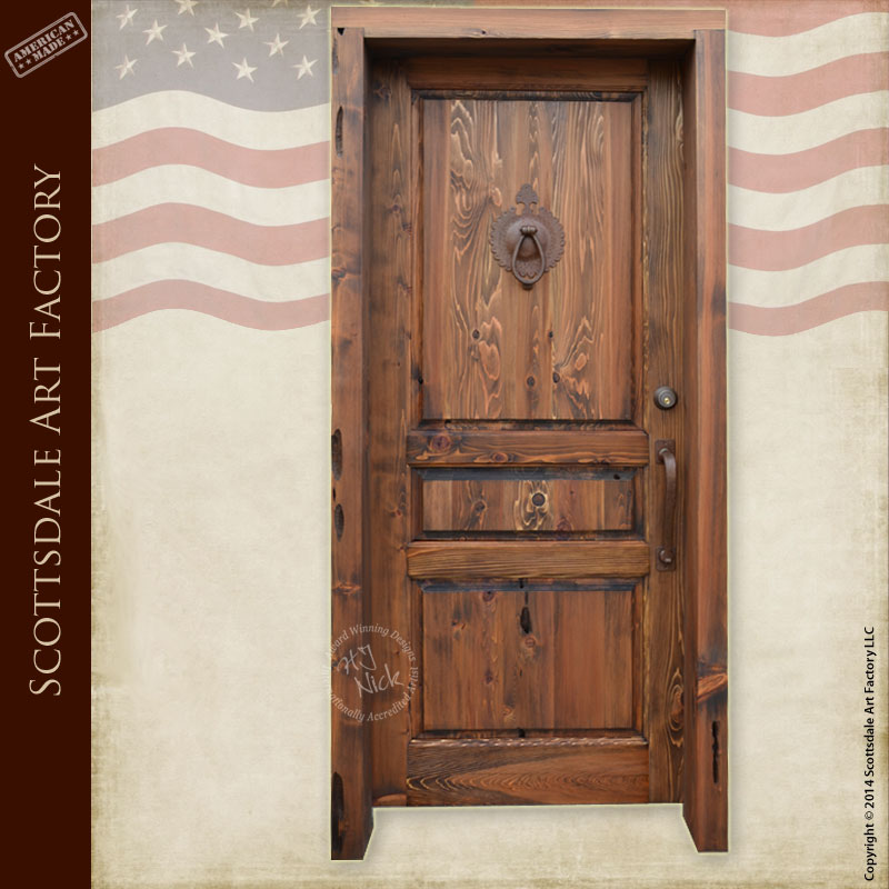 Traditional Style Wood Entry Door