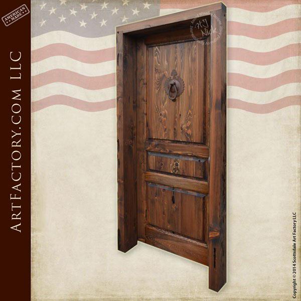 custom wooden three panel door