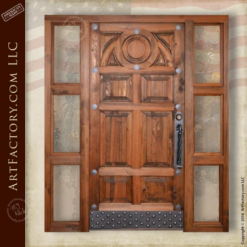 modern western front door