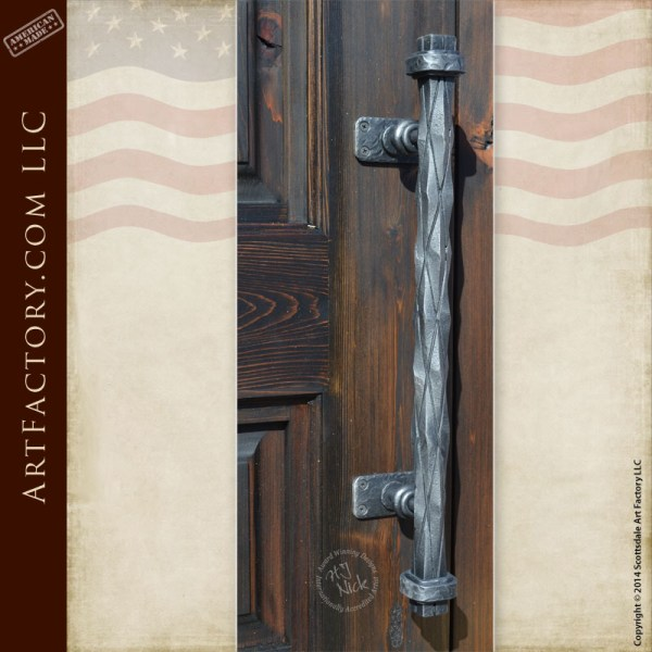 custom medieval castle door handle