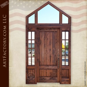 custom handmade front door