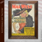 Mae West Every Day's A Holiday Poster