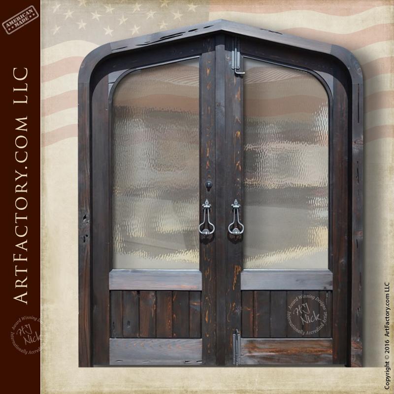 gambrel arch double doors