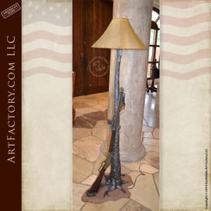 Winchester rifle floor lamp