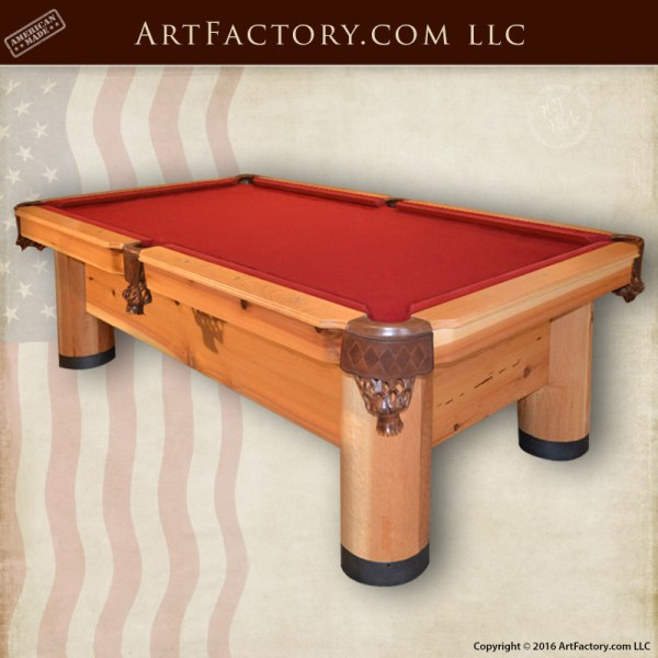 Handcrafted Custom Pool Table