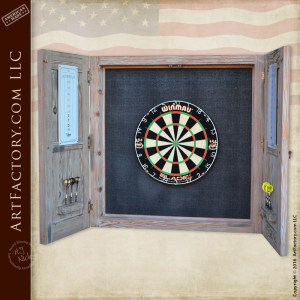 handcrafted dart board