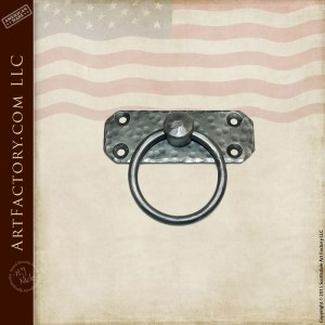 custom ring cabinet pull