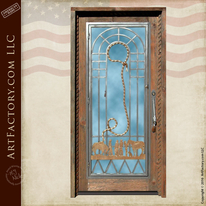 custom old western style door
