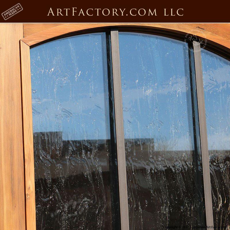 eyebrow arched glass panel door