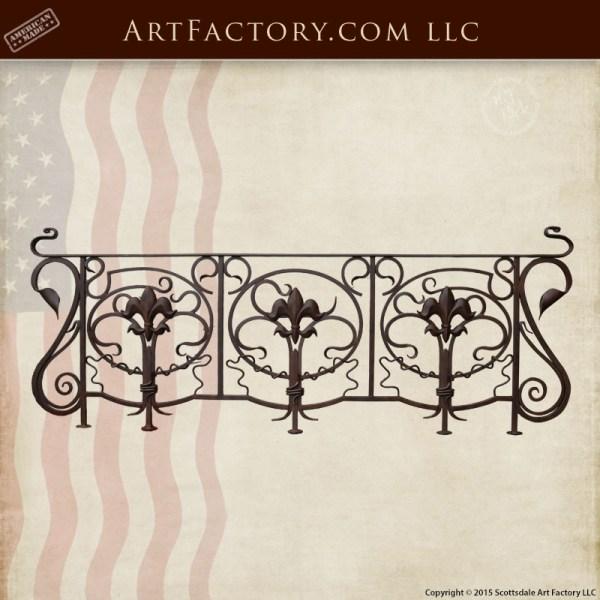 custom stair railing custom wrought iron railing
