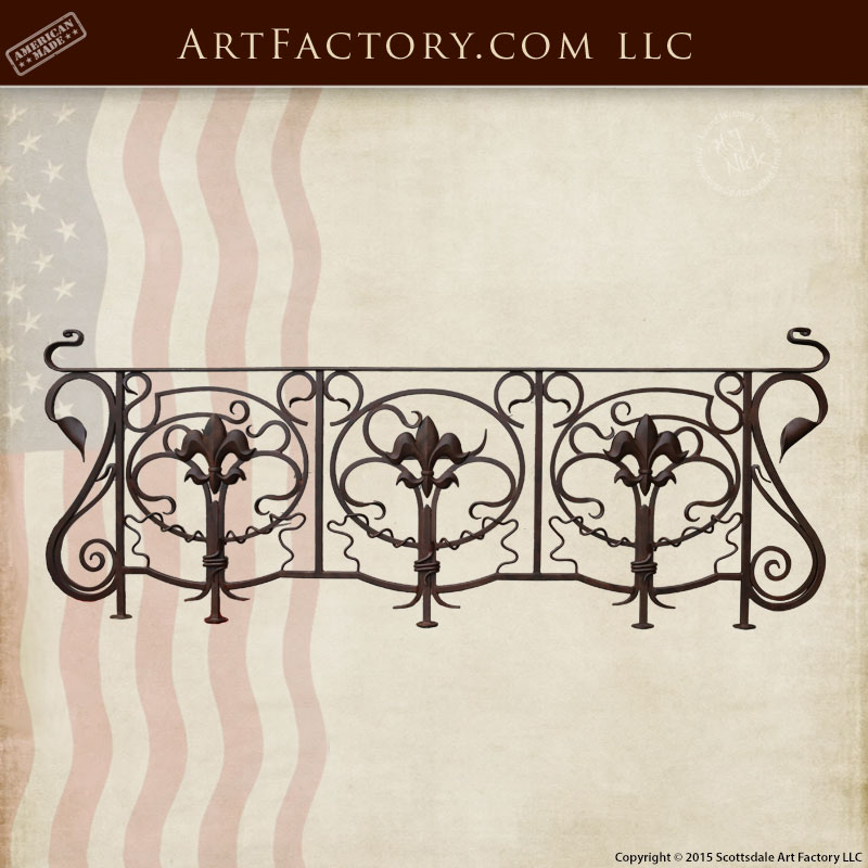 custom stair railing custom wrought iron railing