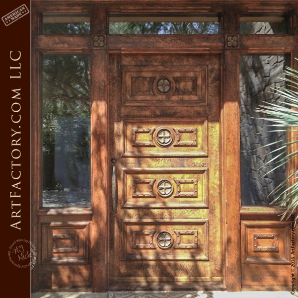 Old Tuscan Style Entry Door