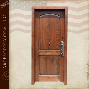 custom wooden entrance door