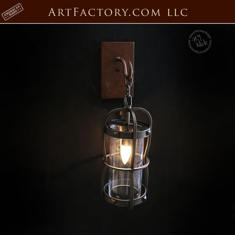 hand forged iron coach lantern
