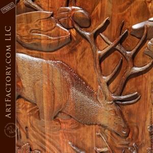 hand carved barn door