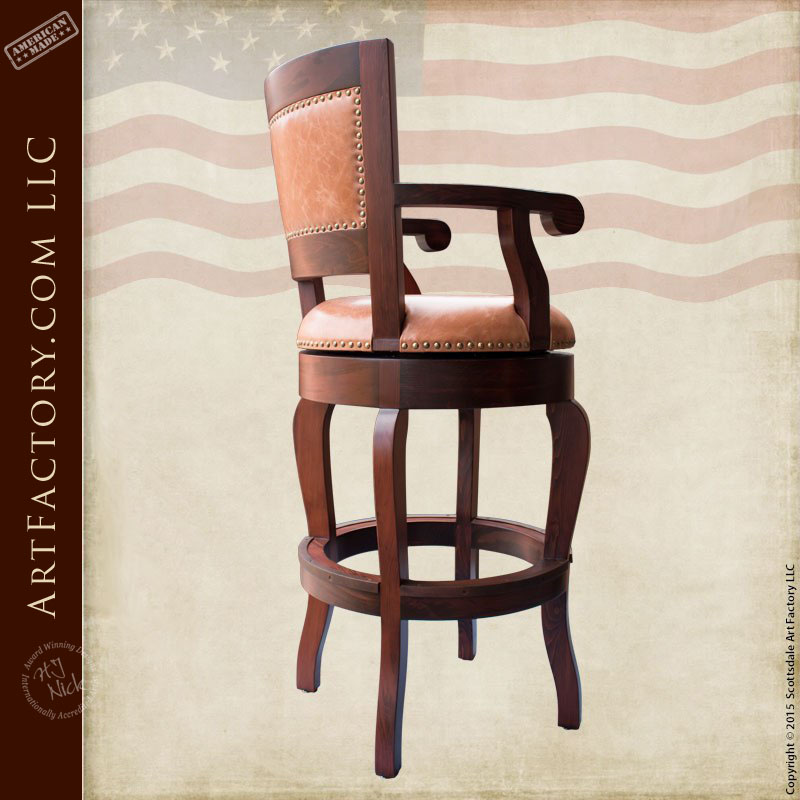 handcrafted bar stools