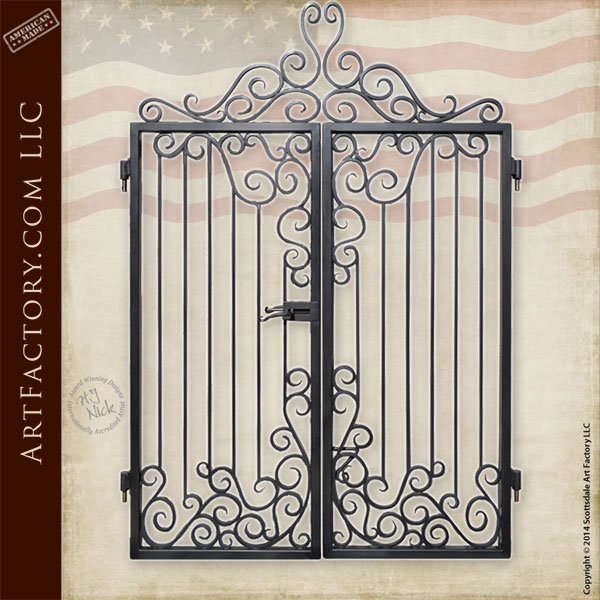 custom iron entrance gate