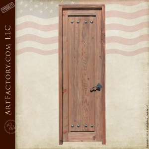 weathered raised grain wood door