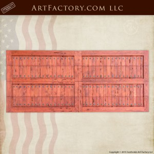 wooden roll up garage doors