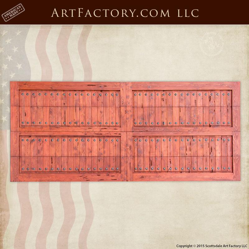 wooden roll up garage doors